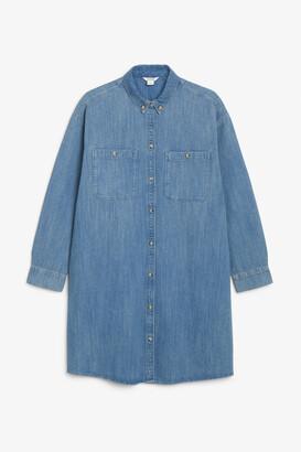 Monki Denim shirt dress