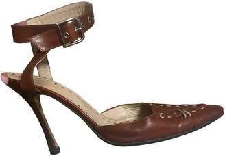 Manolo Blahnik Brown Leather Heels