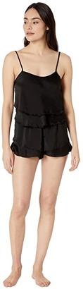 Bluebella Annalie Cami and Shorts Set (Black) Women's Pajama Sets