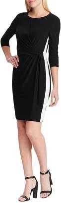 Chaps Three-Quarter Sleeve Sheath Dress