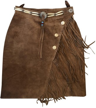 Non Signã© / Unsigned Hippie Chic Brown Leather Skirts
