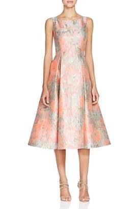 Adrianna Papell Jacquard Midi Dress