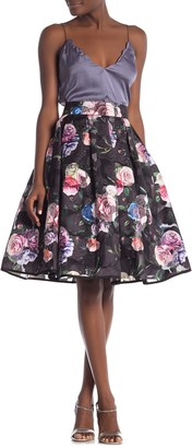 Gracia Floral Organza A-Line Skirt