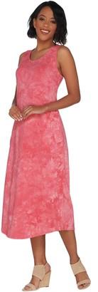 Belle By Kim Gravel TripleLuxe Knit Tie Dye Maxi Dress