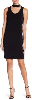 Velvet by Graham & Spencer Choker Neck Stretch Jersey Dress