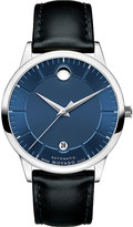 Movado 0606874 1881 Automatic stainless steel and leather watch