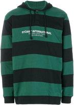 Stussy striped rugby hoodie