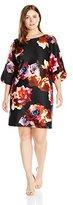 Julian Taylor Women's Plus Size Floral Printed Sheath Dress
