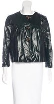 Miu Miu Patent Leather Cropped Jacket