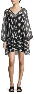 Rachel Zoe Carolina Ikat-Print Dress