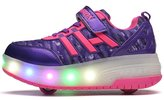 Ufatansy Uforme Kids Boys Girls Light Weight Shoes Single Wheel Double Wheel Roller Skate Shoes Led Light Up Sneakers