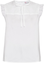 RED Valentino Ruffled cotton-blend poplin top