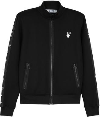 Off-White Arrows Black Stretch-neoprene Track Jacket