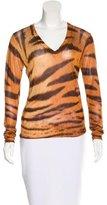 Dolce & Gabbana Tiger Printed V-Neck Sweater