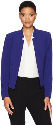 Nine West Women's Cutout Neckline Bi Stretch Jacket