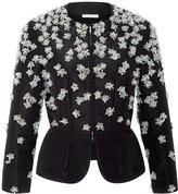 Oscar de la Renta Embellished Peplum Jacket