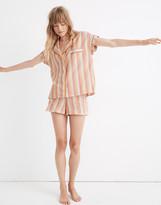 Madewell Bedtime Pajama Top in Rainbow Stripe