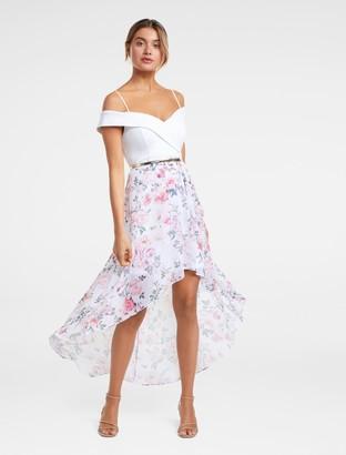 Forever New Season Off-Shoulder Two-in-One Dress - Porcelain Floral - 16