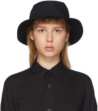 Yohji Yamamoto Black Croche Gather Hat