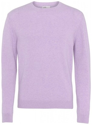 Colorful Standard - COLORFUL STANDARD SOFT LAVENDER CLASSIC CREW MERINO WOOL KNIT - XSMALL