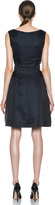 Thakoon Cut Out Midriff Poly Dress in Black