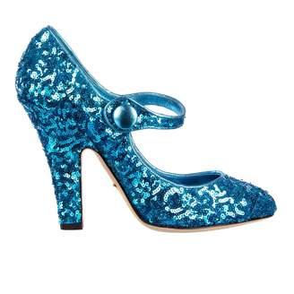 Dolce & Gabbana Blue Glitter Heels