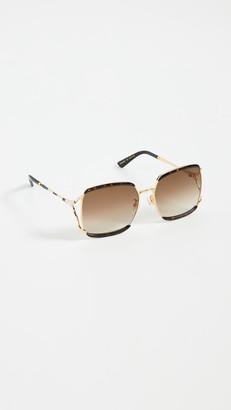 Gucci Fork Square Sunglasses