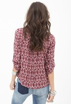 Forever 21 Abstract Peasant Top