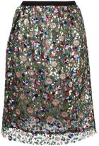 Odeeh sequined skirt - women - Cotton/Polyester - 40