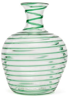 Yali Glass - A Filo Large Glass Carafe - Green