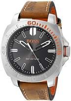 HUGO BOSS BOSS Orange Men's 1513294 Sao Paulo Analog Display Japanese Quartz Brown Watch