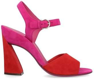 Salvatore Ferragamo Ankle Strap Sculptured Heel Sandals