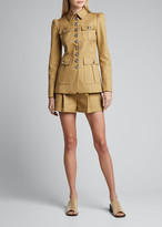 Michael Kors Safari Military Jacket