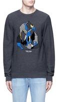 Scotch & Soda Mountain embroidery patch sweatshirt
