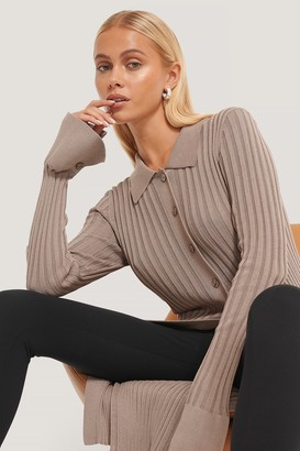 NA-KD Buttoned Long Knitted Sweater