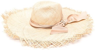 Zimmermann Straw Hat With Raw Edge
