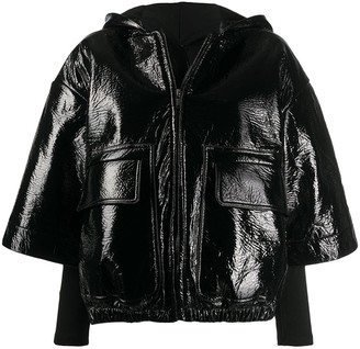 Rick Owens Patch Pockets Cropped Jacket
