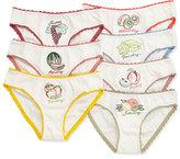 Stella McCartney Peonie 7-Day Fruit Underwear Set, White, Size 4-10