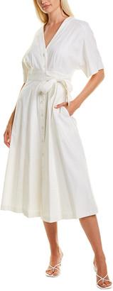Taylor Tie-Waist Linen-Blend Shirtdress