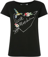 Love Moschino embroidered T-shirt - women - Cotton/Spandex/Elastane - 40