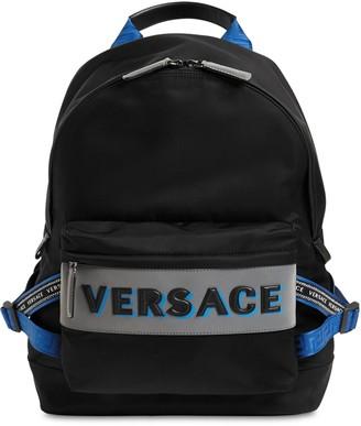 Versace Logo Nylon Backpack