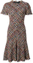 Alexander McQueen tweed A-line dress