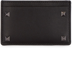 Valentino Rockstud-embellished leather cardholder