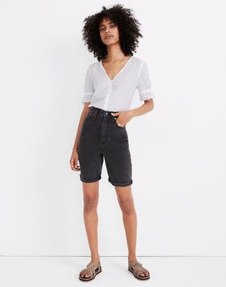 Madewell High-Rise Long Denim Shorts in Encino Wash