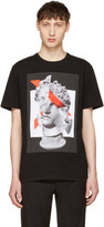 Neil Barrett Black Panelled Geometric Sculpture T-Shirt