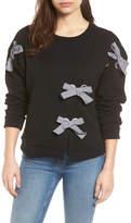 Halogen Grommet Bow Sweatshirt (Regular & Petite)