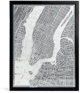 Marks and Spencer Vintage New York Map Wall Art