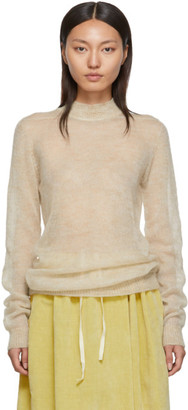 Rick Owens Beige Soft Lupetto Sweater