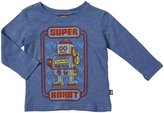 City Threads Super Robot Slub Graphic Tee (Baby) - Smurf-6-9 Months