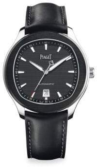 Piaget Polo S Limited Edition Stainless Steel& Leather Strap Watch